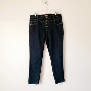 ModCloth 14 Jeans Seamstress Button Fly High Waist